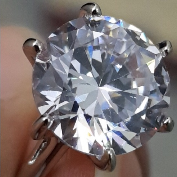 COPY - Diamond wedding 925 huge big ring 4 5 6 7 …
